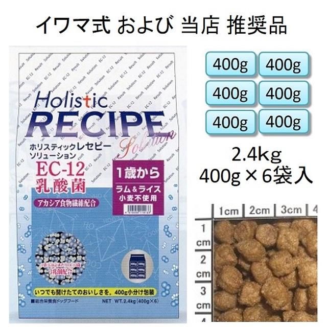ホリスティックレセピー・EC-12乳酸菌・アカシア食物繊維配合ラム&ライス(小麦不使用)1歳から2.4kg(400g×6袋入)