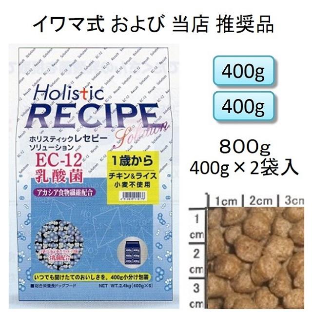 ホリスティックレセピー・EC-12乳酸菌・アカシア食物繊維配合チキン&ライス(小麦不使用)1歳から800g(400g×2袋入)
